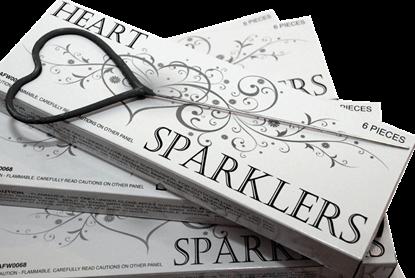 Imagens de Sparkler de Coração Prata CX6