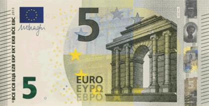 Imagens de Notas Papel Flash 5 euros