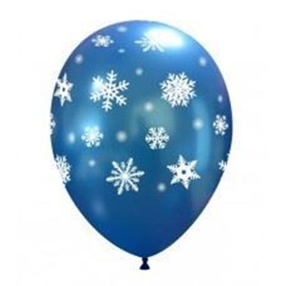 Imagens de Balão Azul Escuro Metálico c/ Flocos Brancos