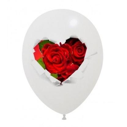 Imagens de Balão com Coração em Rosas