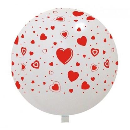 Imagens de Balão Gigante Branco com Corações