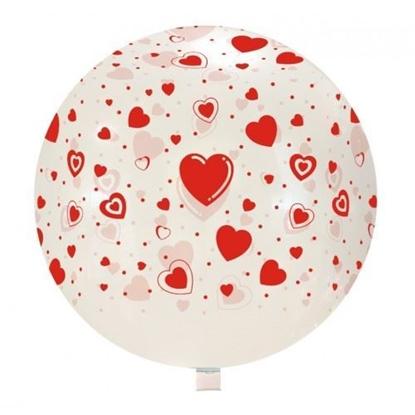 Imagens de Balão Gigante Incolor com Corações
