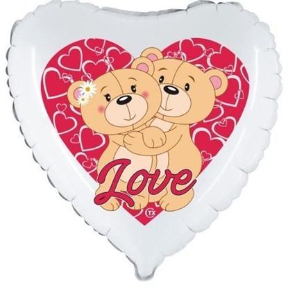 Imagens de Balão Foil Ursos Amor