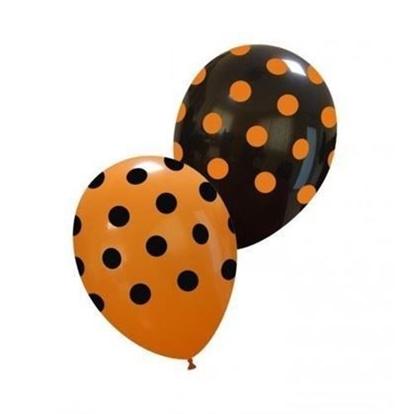 Imagens de Balão Halloween Laranja e Preto c/ Pintas