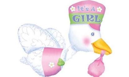 """Imagens de Balão Cegonha """"It's a Girl"""""""