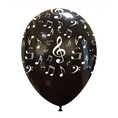 Imagens de Balão com Notas Musicais Preto