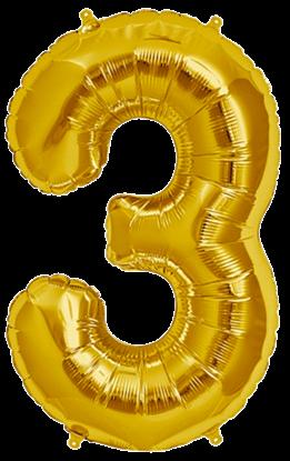 Imagens de Número 3 Dourado
