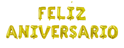 "Imagens de Conjunto Letras "" Feliz Aniversário "" Dourado"
