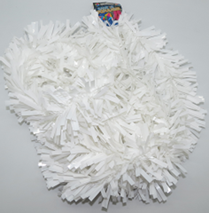 Imagens de Festão Metalizado Branco 12M