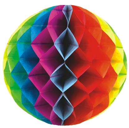 Imagens de Favo Colorido 20cm (Balão Papel)