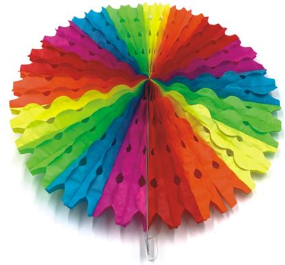 Imagens de Leque Papel Colorido 50cm
