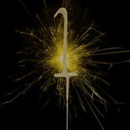 Imagens de Sparkler Dourado Número 1