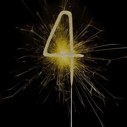 Imagens de Sparkler Dourado Número 4