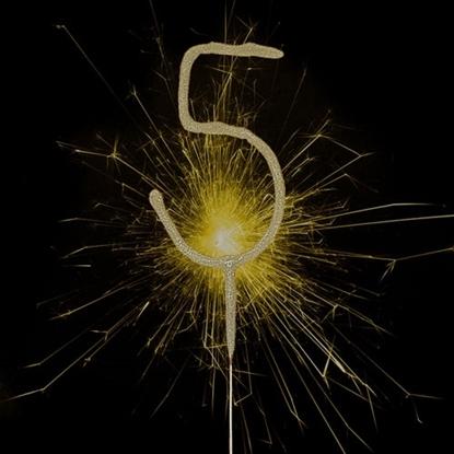 Imagens de Sparkler Dourado Número 5