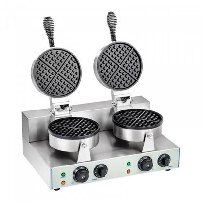 Imagens de Máquina Waffles Belgas Redonda Dupla