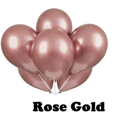 Imagens de Balão 12 PL Cromado  Rose Gold